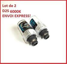 LOT de 2 AMPOULES XENON D2S 6000K  35W UNIVERSELLES envoi de FRANCE