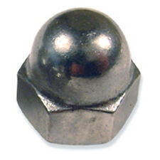 Stainless Steel Acorn Cap Nuts: 3/8-16 - (10 each)