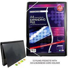 Organizador de carpeta de archivo Expansión A4 CD y para tarjetas de negocios 12 bolsillos de presentación