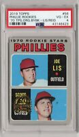 1970 Topps #56 Phillies Rookies PSA 4 VG-EX 2019 50Th Anniversary Buyback Stamp