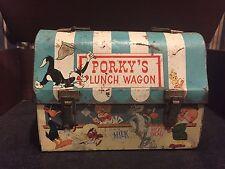 Vintage 1959 Porky's Lunch Wagon Dome Metal Lunchbox Warner Bros Box Tin Porkys