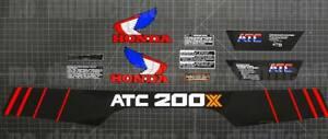 1985 85' ATC 200X trike 10pc decal vintage trike autocollant sticker 3 wheeler