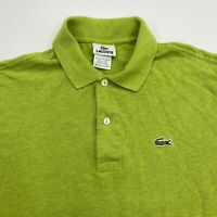 Lacoste Polo Shirt Mens 4 Green Short Sleeve 100% Cotton Regular Fit Casual Polo