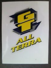 GT ALL TERRA HEAD TUBE Decal BLUE/YELOW bmx bike Authentic/Vintage FREE SHIPPING