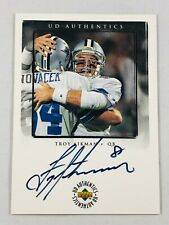 TROY AIKMAN AUTO 1996 UPPER DECK AUTHENTICS AUTOGRAPH DALLAS COWBOYS #TA-1