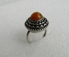 Russian Latvian Silver 875 Baltic  Amber Ring  7,44 gr.