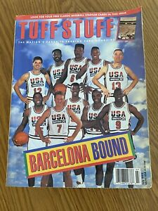 1992 July Tuff Stuff Monthly Price Guide - USA Basketball Team