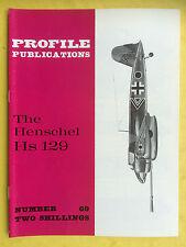 PROFILE PUBLICATIONS No.69 - The Henschel Hs 129 - Aviation Collector Series