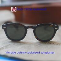 2d2da6a7ab9 Vintage polarized Johnny Depp sunglasses tortoise acetate glasses G15 lens  mens