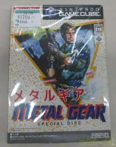 METAL GEAR Konami Gamecube Special Disc Nintendo w/Box