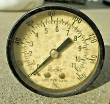 Vintage Ashcroft Gauge Psi 0 160 Kgcm2 Lbs Per Sq In Steampunk