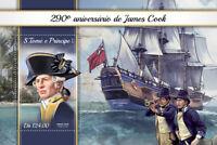 Sao Tome & Principe James Cook Stamps 2018 MNH Exploration Ships People 1v S/S