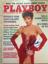 Joan COLLINS Hand Signed Playboy Magazine