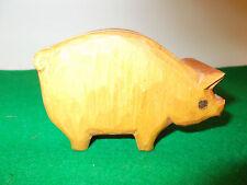 Cute Wooden Pig Trinket Box