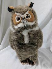 "FAO medium plush 14"" 18"" owl bird nature soft realistic wild stuffed animal"