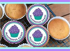 30 PERSONALISED EDIBLE RICE PAPER CUP CAKE TOPPERS
