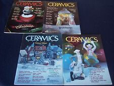 Ceramics Magazine Lot of 4 1988 1989 VTG Christmas Projects Bisque Color Wheel