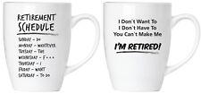 2er-Set Lustige Sprüche Kaffee-Becher-Tassen Ruhestands-Plan Rente + Grußarte