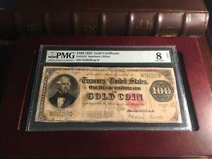 1922 $100 Gold Certificate Fr#1215 PMG 8