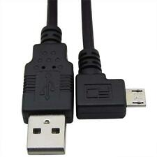 left  angled 90 degree Micro USB Male to USB Data Charge Cable Samung Moto HTC