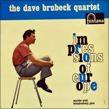 "7"" Dave Brubeck Quartet Impressions of Europe Brandenburg Gate Fontana Jazz 1960"