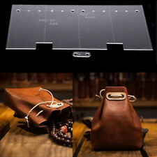 2pcs Acrylic Clear Template Handcrafting For Leather Bag Pattern Craft Diy