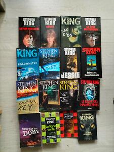 lot 18 livres STEPHEN KING grands formats coffret ,La ligne verte en 6 volumes