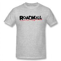 Men Roadkill logo 100% Cotton Short Sleeve T Shirt Tee