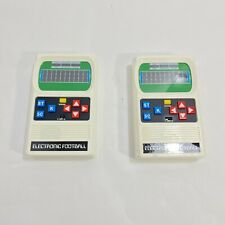 2 Mattel Classic Football Retro Game Year 2000 Re-Release of 1977 Handheld Game