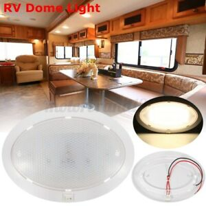 Pair Roof Dome LED Lights Interior For Camper RV Trailer Marine Boat Warm