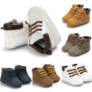 Newborn Baby Boys Girls Soft Sole Crib Shoes Warm Boots Anti-slip Sneakers 0-18M