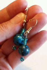 Blue Dangle Earrings ~ Avon? ~ NEW (Lapis?Sodalite?)