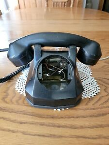 Vintage 1940-50s Tabletop Automatic Electric Bakelite Rotary Dial Phone
