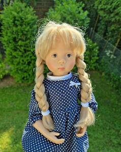 Götz Puppe Sylvia Natterer 50 cm Corina blond Künstlerpuppe + Kleidung,  Doll