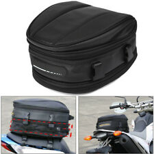 Portable Motorcycle Rear Tail Seat Back Saddle Pack Waterproof Carry Bag W/Cover