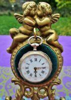 Support ancien pour lustre de montre de poche bronze France Antique stand for po