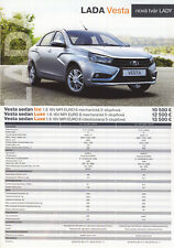 2018 MY Lada Vesta Sedan 08 / 2017 catalogue brochure Slovakia Slovaquie