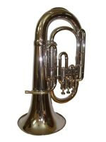 High Grade! New SILVER Finish Bb Euphonium With Free Hard Case+M/P+FREE SHIPPING