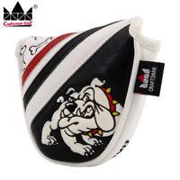 Magnetic Golf Mallet Putter Cover Headcover-Black&White Barking Bulldog New