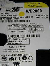 200GB Western Digital WD2000JD-55HBB0 / HSCACTJAH / JUL 2004 / 2060-001267-001