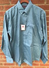 $70 RED HOUSE MENS 100% COTTON BLUE CLASSIC OXFORD DRESS SHIRT LT LARGE L TALL