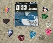 Muta corde chitarra Acustica + 10 Plettri (spedizione rapida da ITALIA posta1)