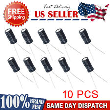 10pcs - 220uf 25v 105c radial electrolytic capacitors USA SHIPPING/SOLD