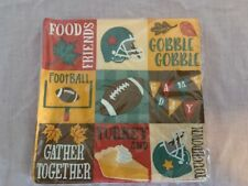 Fall Football Game Day Thanksgiving Turkey Day Paper Napkins (3 sets - 48 count)
