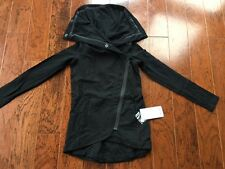 NWOT AUTH Lululemon Method Wrap Jacket BLACK ZIP  - Size 2/4