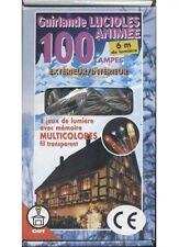 Guirlande étanche lucioles multicolore animée 100 lampes decoration de noel fete