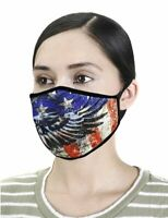 American Eagle Flag Print Washable and Reusable Fashion Face Mask
