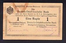 German East Africa 1 Rupie 1916 XF  P. 19,  Banknote, Circulated