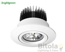 NEW BRIGHTGREEN D700 CLASSIC 12w LED DOWNLIGHT WHITE ROUND 3000K WARM GIMBAL