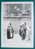 BIBLE Joseph Sold to Slavery - VICTORIAN Era Engraving Print